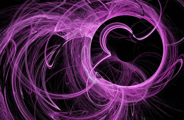 Digital Art - Massive O Fractal Art Magenta by Don Northup