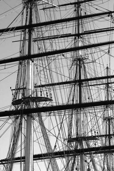 Photograph - Masts And Rigging Of The Cutty Sark At Greenwich Docks by Aidan Moran