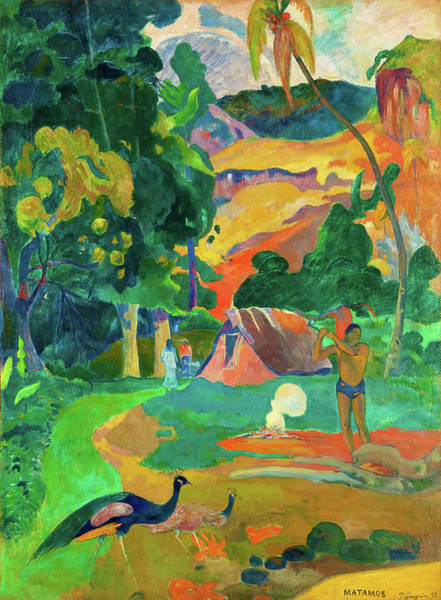 Gauguin Painting - Matamoe, Death, Landscape With Peacocks - Digital Remastered Edition by Paul Gauguin