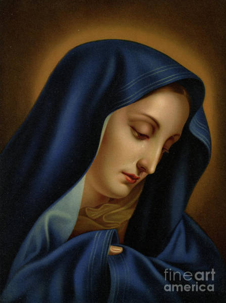 Wall Art - Painting - Mater Dolorosa Colour Litho by Carlo Dolci