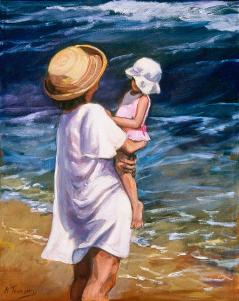 Wall Art - Painting - Maternal Moment by Nancy Tankersley
