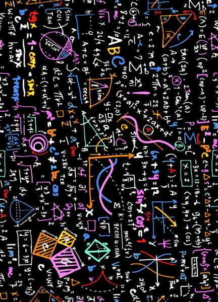 Painting - Math Linear Mathematics  Education Circle Background With Geomet by Tony Rubino