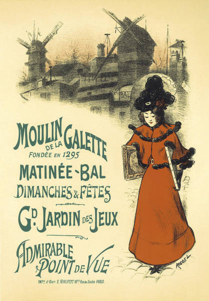 Painting - Matinee Bal Vintage French Advertising Design by Vintage French Advertising