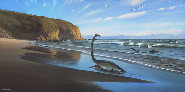 Painting - Mating Season Strands Beach by Cliff Wassmann