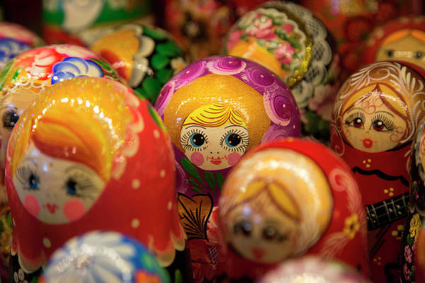 Nesting Photograph - Matryoshka Dolls For Sale At Souvenir by Holger Leue
