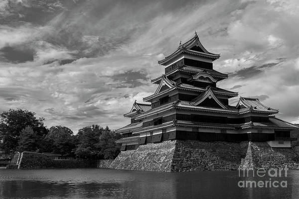 Castle Photograph - Matsumoto Castle Japan Black And White by Ivan Krpan