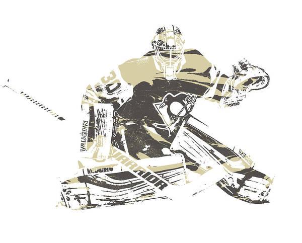 Wall Art - Photograph - Matt Murray Pittsburgh Penguins Pixel Art 1 by Joe Hamilton