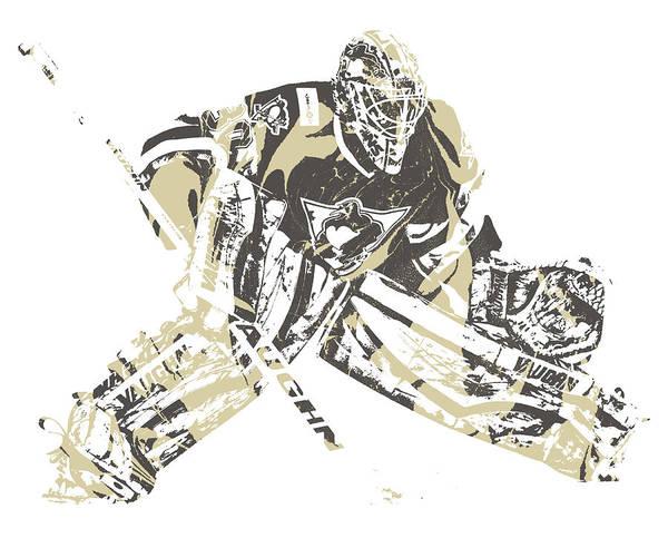 Wall Art - Mixed Media - Matt Murray Pittsburgh Penguins Pixel Art 2 by Joe Hamilton