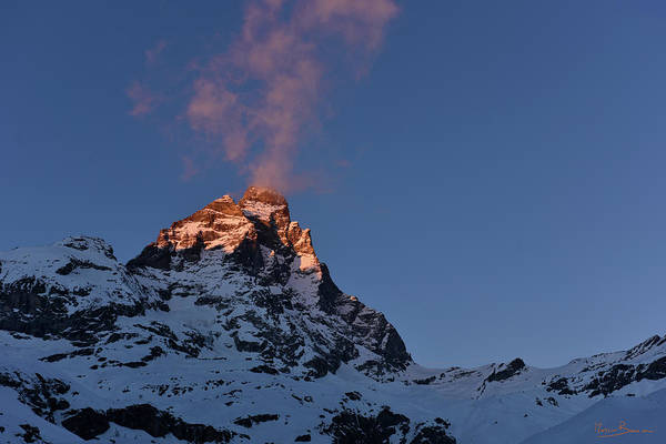Photograph - Matterhorn In The Sunset by Marco Busoni