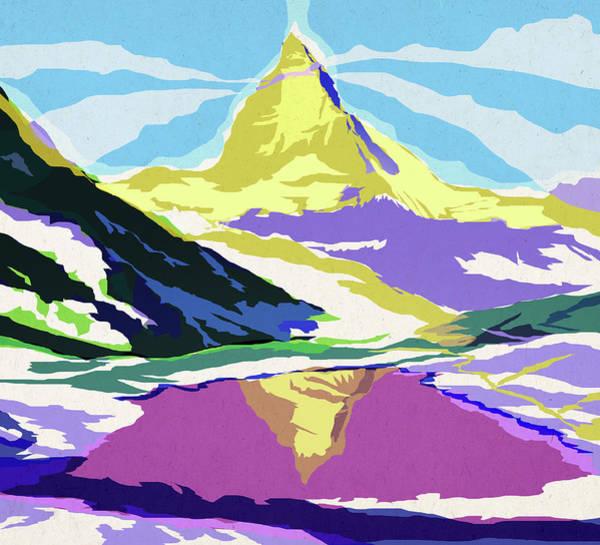 Berge Wall Art - Digital Art - Matterhorn Snow Melt by Garth Glazier