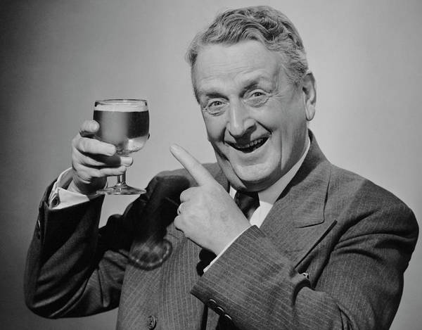 Drunk Photograph - Mature Man Wglass Of Beer by George Marks