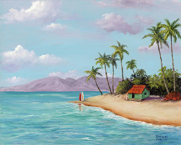 Painting - Maui Beach Hut by Darice Machel McGuire