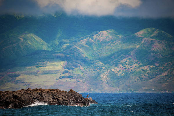 Maui Fisherman Art Print