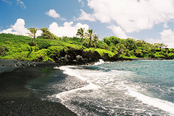 Maui Photograph - Maui Hawaii Black Sand Beach Landscape by Ejs9