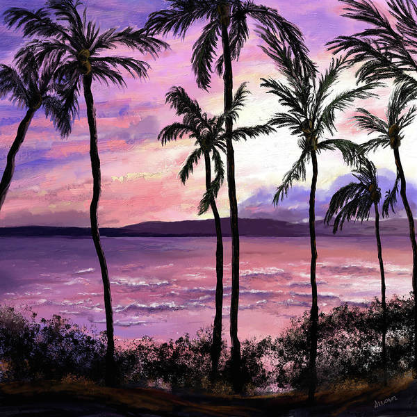 Digital Art - Maui Palms by Susan Kinney
