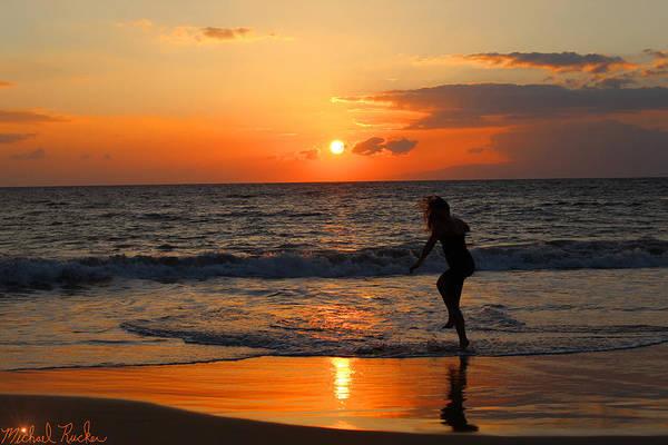 Wall Art - Photograph - Maui Sunset Dance by Michael Rucker