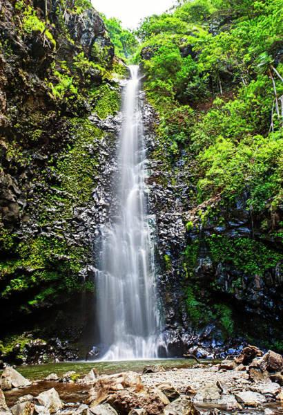 Photograph - Maui Waterfall by Anthony Jones