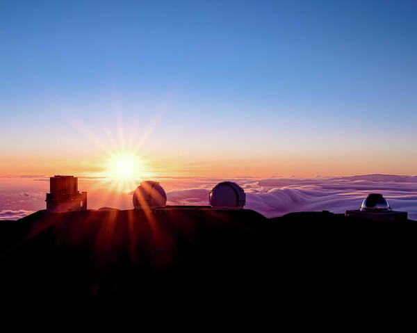 Photograph - Mauna Kea Sunset 10x8 by William Dickman