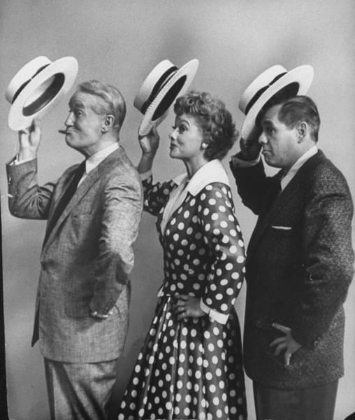 Hollywood Photograph - Maurice Chevalierdesi Arnaz & by Leonard Mccombe
