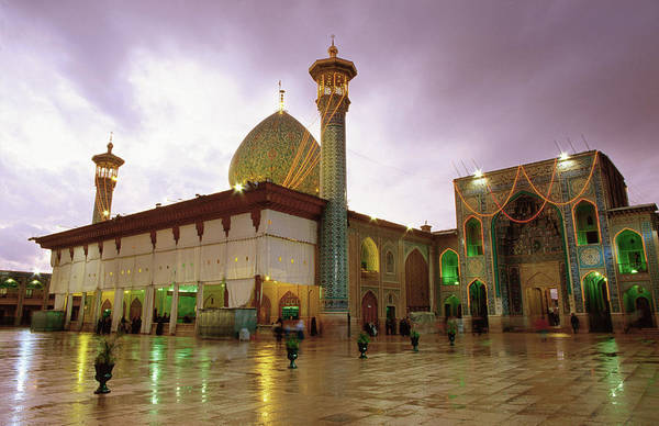 Small Photograph - Mausoleum Of Shar-e Cheragh, Shiraz by Mark Daffey