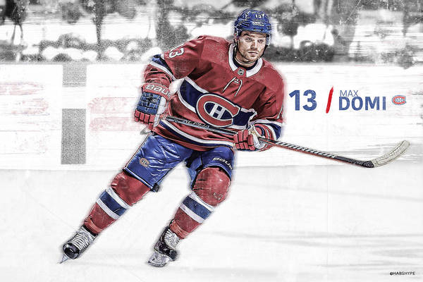 Montreal Canadiens Digital Art - Max Domi Montreal Canadiens  by Nicholas Legault