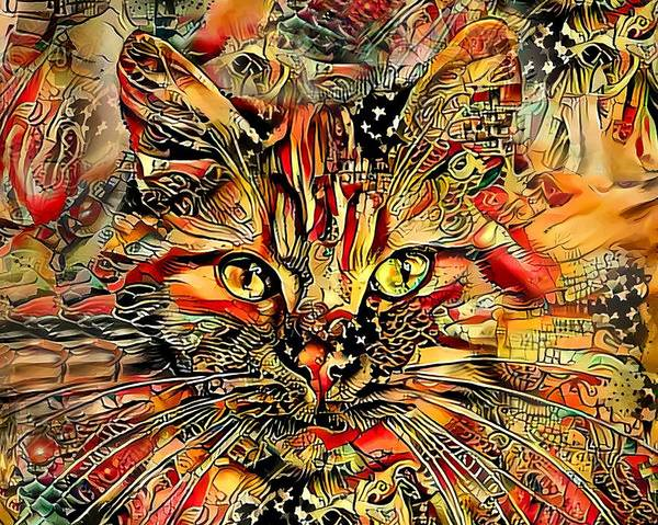 Wall Art - Photograph - Max The Mystery Cat  by HH Photography of Florida