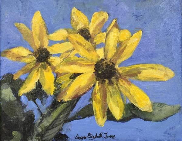Wall Art - Painting - Maximilian Sunflowers by Susan Elizabeth Jones