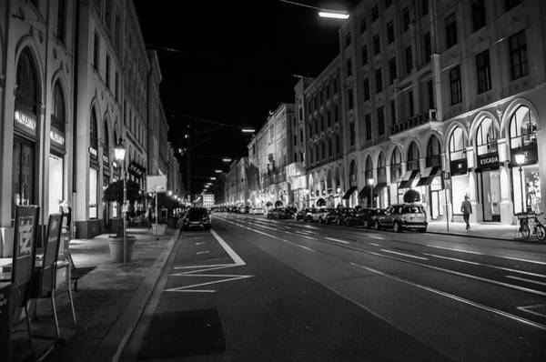 Photograph - Maximilianstrasse By Night by Borja Robles
