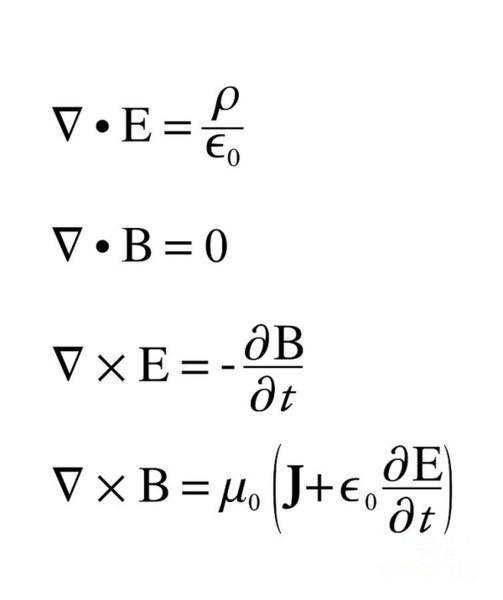 Wall Art - Photograph - Maxwell's Equations by Science Photo Library