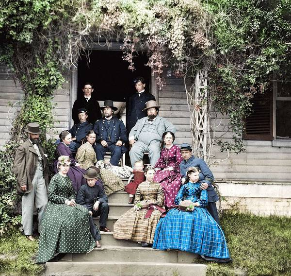 Wall Art - Painting - May 1865  City Point  Virginia Gen Rufus Ingalls And Group by Celestial Images