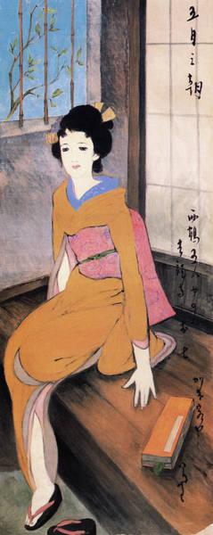 Wall Art - Painting - May Morning - Digital Remastered Edition by Takehisa Yumeji