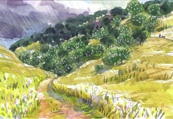 Painting - May Rain by Judith Kunzle