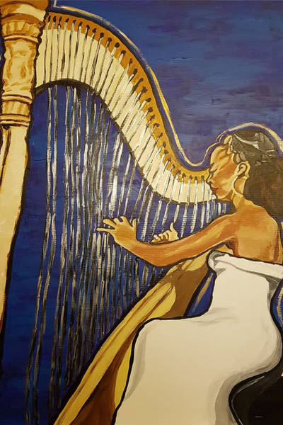 Painting - May The Strings Make You Smile by Rachel Natalie Rawlins