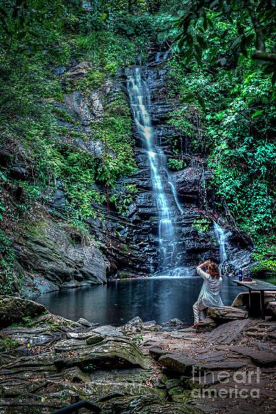 Wall Art - Photograph - Maya King Waterfall Portrait by David Zanzinger