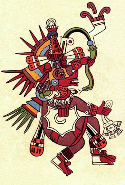 Feathered Serpent Digital Art - Maya, Mayan, Quetzalcoatl, Feathered Serpent, As Depicted In The Codex Borbonicus by Tom Hill