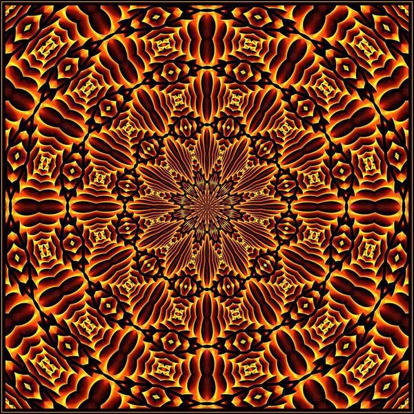 Digital Art - Mayan Sun God Tile K12 K12-2 by Doug Morgan
