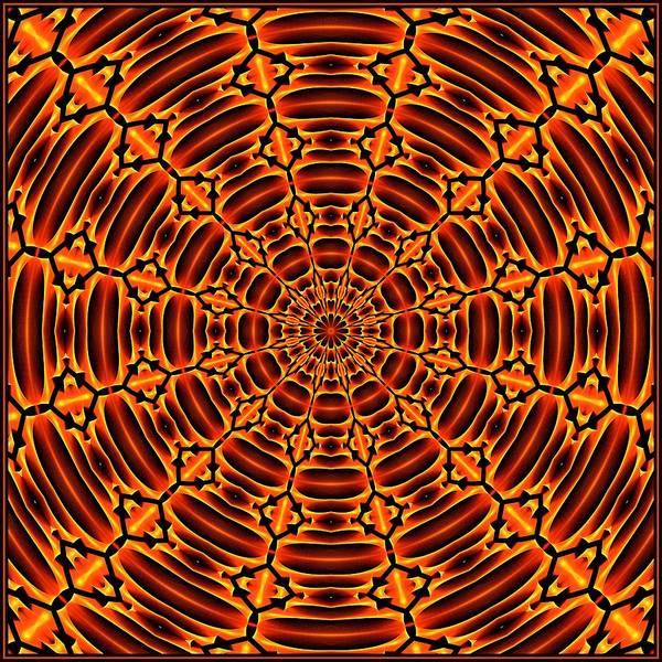 Digital Art - Mayan Sun God Tile K12 K12-3  by Doug Morgan