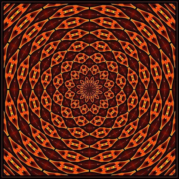 Digital Art - Mayan Sun God Tile K12 K12-4 by Doug Morgan