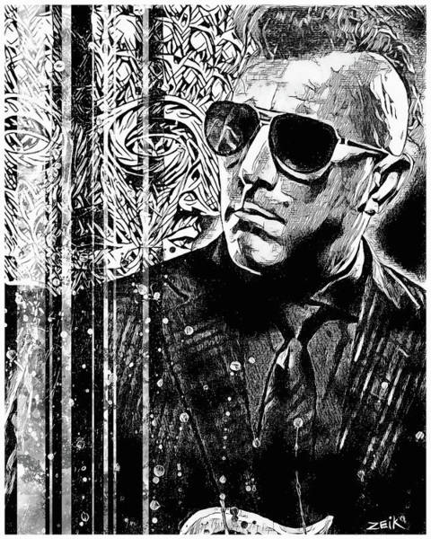 Wall Art - Painting - Maynard - Noir Series by Bobby Zeik