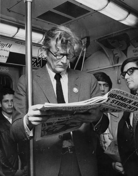 Newspaper Photograph - Mayor John Lindsay Reads Newspaper by New York Daily News Archive