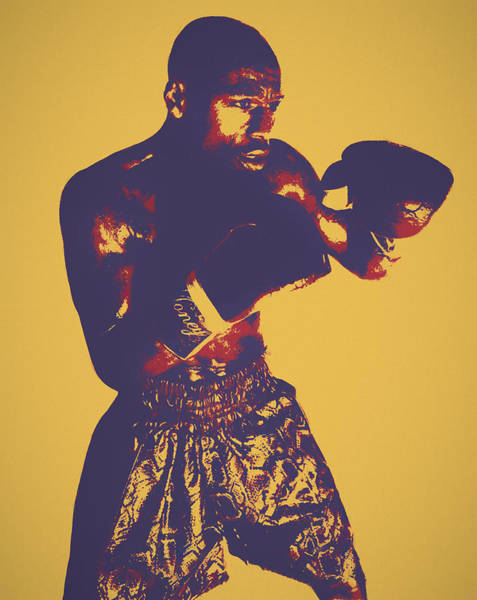 Painting - Mayweather Pop Art by Dan Sproul