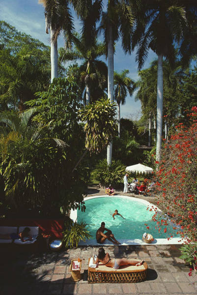 Group Of People Photograph - Mazatlan Mansion by Slim Aarons