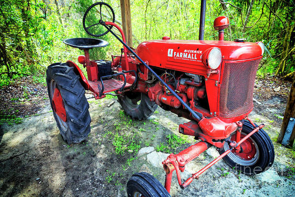 Photograph - Mccormick Farmall Tractor At Boone Hall Plantation by John Rizzuto