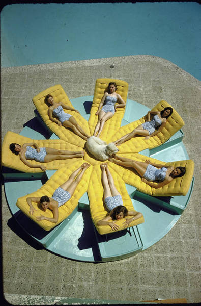 Lifestyles Photograph - Mcculloch House-girls Sunbathing In Iden by Loomis Dean