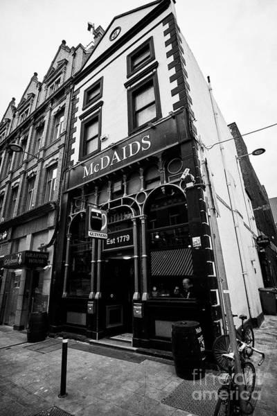 Wall Art - Photograph - Mcdaids Pub On Harry Street Dublin Republic Of Ireland Europe by Joe Fox