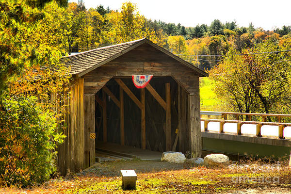 Photograph - Mcdermott Covered Bridge by Adam Jewell