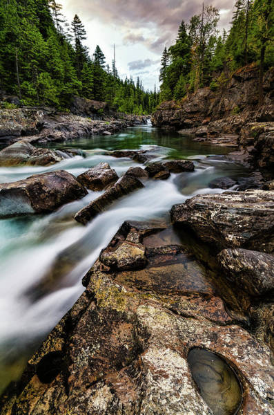 Photograph - Mcdonald Creek by Jake Sorensen