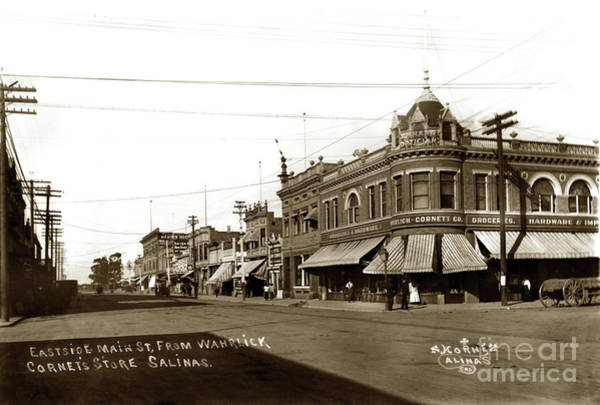 Photograph - Mcdougall Building East Side Main At Gabilan Sts Of  Wahrich by California Views Archives Mr Pat Hathaway Archives