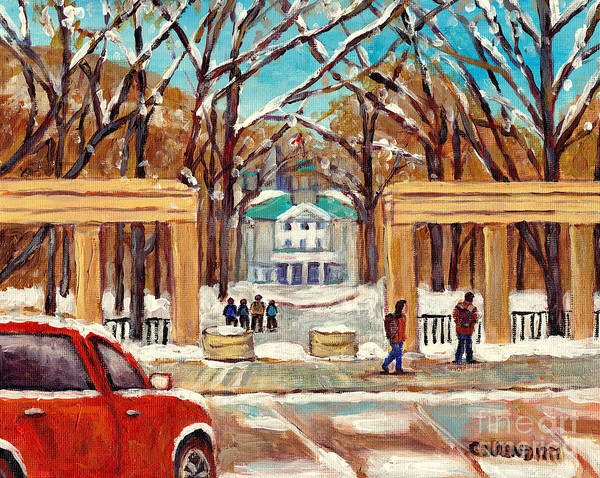 Wall Art - Painting - Mcgill University College Campus Painting For Sale Roddick Gates Rue Sherbrooke G Venditti Cityscene by Grace Venditti