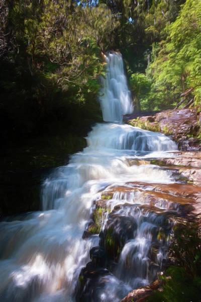 Wall Art - Photograph - Mclean Falls New Zealand Painterly by Joan Carroll